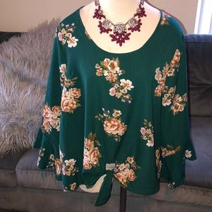 Liberty Love green floral blouse